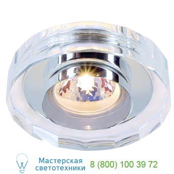 Marbel 114921 CRYSTAL 2 светильник встраиваемый для лампы MR16 35Вт макс., хром/ стекло прозрачн. кристалли