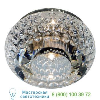 Marbel 114931 CRYSTAL 8 светильник встраиваемый для лампы G4 20Вт макс., хром/ стекло прозрачное кристаллич