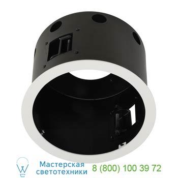 Marbel 115601 AIXLIGHT® PRO, 1 FLAT FRAME ROUND корпус с рамкой для 1-го светильникa MODULE, текстур.белый/