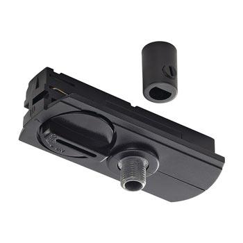 Marbel 143120 1-Phasen Pendelleuchtenadapter ,schwarz, inkl. Zugentlastung und Gewindestück, SLV