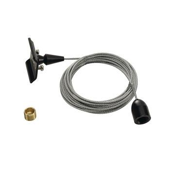 Marbel 143140 Deckenabhängung für 1-Phasen HV-Stromschiene, schwarz, 3m, SLV