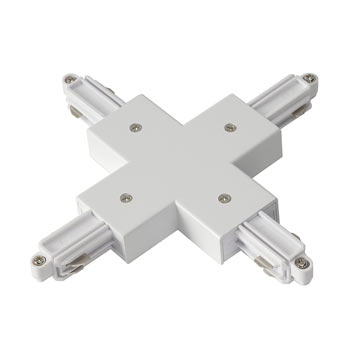 Marbel 143161 X-Verbinder für 1-Phasen HV-Stromschiene, Aufbauversion weiss, SLV