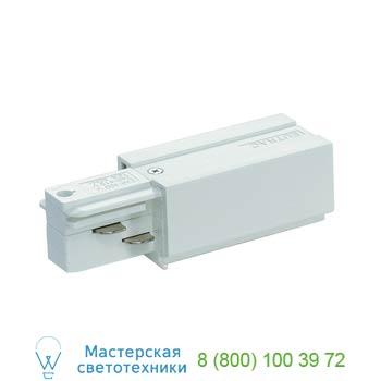 """Marbel 145511 EUTRAC®, наконечник с разъемами подвода питания, """"ноль"""" слева, белый, SLV"""