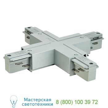 Marbel 145694 EUTRAC®, X-коннектор электрический для двух контуров с разъемом подвода питания, серебристый,