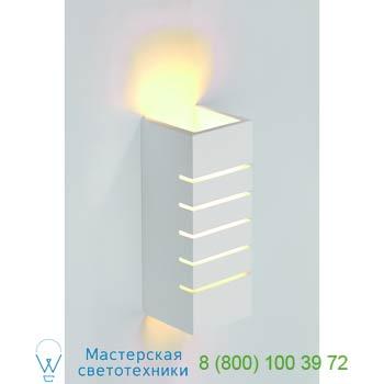 Marbel 148010 GL 100 SLOT светильник настенный лампы E14 40Вт макс., белый гипс, SLV