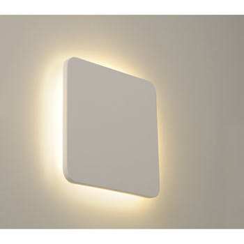 Marbel 148019 PLASTRA SQUARE Wandleuchte, eckig, weisser Gips, 48 LED, 3000K, SLV