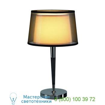 Marbel 155651 BISHADE TL-1 светильник настольный для лампы E27 40Вт макс., черный/ белый/ хром, SLV