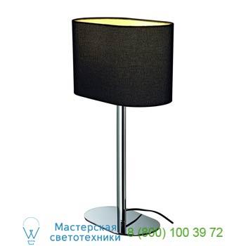 Marbel 155840 SOPRANA OVAL ТL-1 светильник настольный для лампы E27 60Вт макс., хром/ черный, SLV