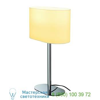 Marbel 155841 SOPRANA OVAL ТL-1 светильник настольный для лампы E27 60Вт макс., хром/ белый, SLV