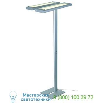 Marbel 157152 WORK LIGHT FLOOR светильник напольный с ЭПРА для 4-х ламп TC-LEL по 55Вт, серебристый, SLV