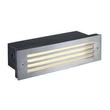 Marbel 229110 BRICK MESH LED EDELSTAHL 316 Wandeinbauleuchte, 4W LED, warm-weiss, IP54, SLV