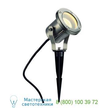 Marbel 229740 NAUTILUS SPIKE ST светильник IP55 для лампы GU10 35Вт макс., кабель 1.5 м, сталь, SLV
