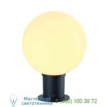 Marbel 232015 GLOO PURE 27 светильник IP44 для лампы ELT E27 20Вт макс., антрацит/ стекло белое, SLV