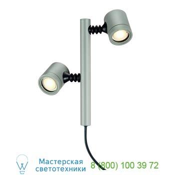 Marbel 233184 NEW MYRA 2, корпус светильника IP44 для двух LED ламп GU10 макс. 4Вт , серебристый, SLV