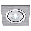 111871 SLV LELEX 1 светильник встр. с белым LED 1Вт, мат. алюминий