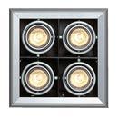 154582 SLV AIXLIGHT, MOD 4 GU10 светильник встр., 4хGU10 по 50Вт макс., серебристый/черный