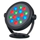 229453 SLV KETO RGB LED ROUND 350mA светильник IP65 с 15-ю RGB LED по 1Вт, черный